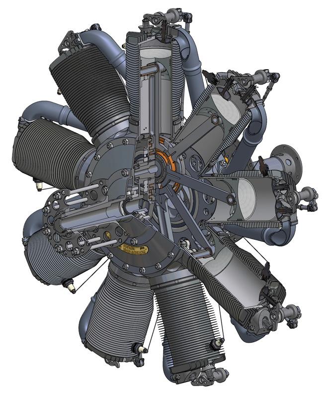 Oberursel 110hp urii engine build the vintage aviator this malvernweather Gallery