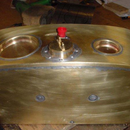 Finished Emrgency Tank Note Holes For Main Tank Filler And Gauge Flange