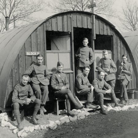 061 British Troops Outside Barracks