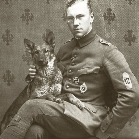 150 German Officer With Dog