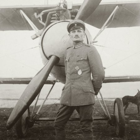 152 German Officer With Albatros