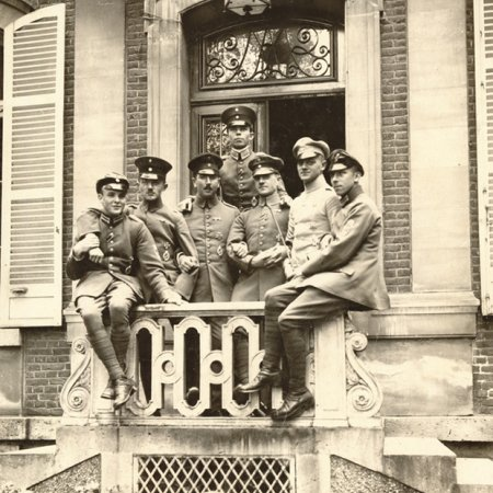169 German Officers On Steps
