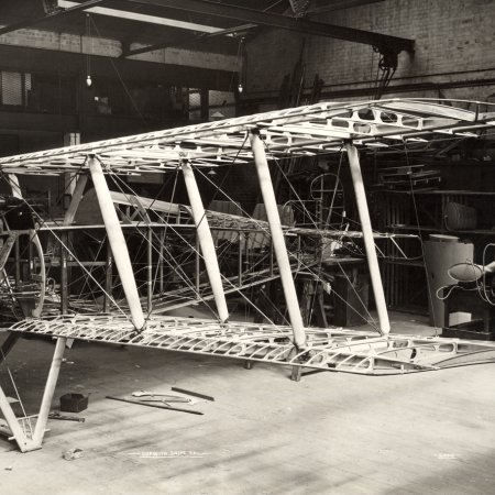 194 Sopwith Snipe Frame During Assembly