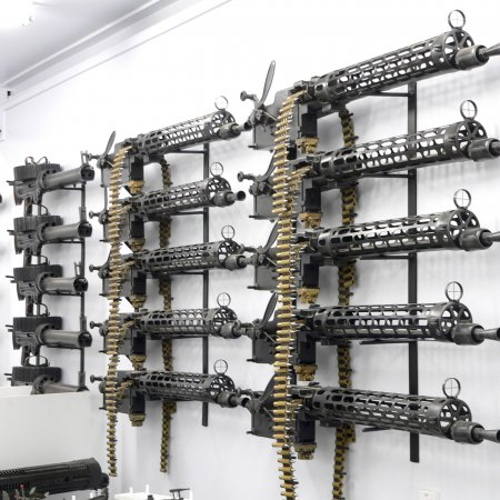 Gun Room LMGs Wall Mounted