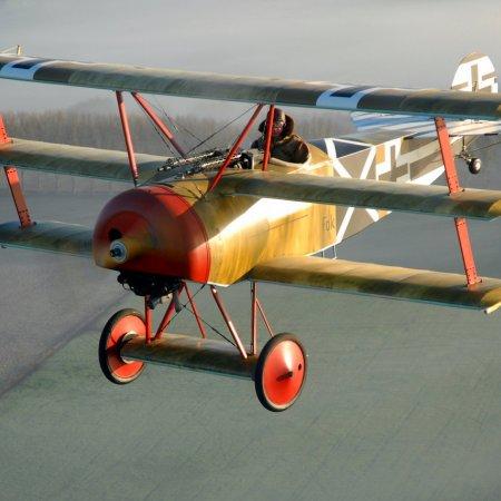 TVAL Fokker Triplane Enroute To WAIPUKURAU Airfield