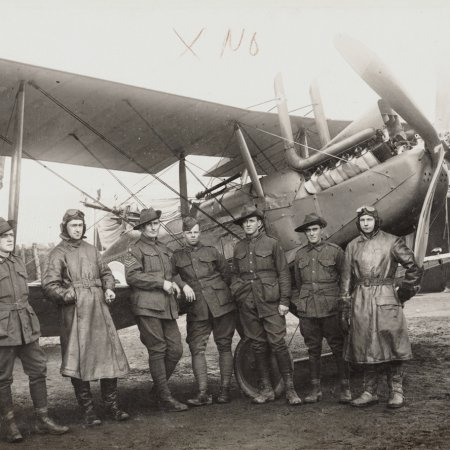 09 RE 8 With Australian Pilots Cpl Foale 3 Rd From Left L