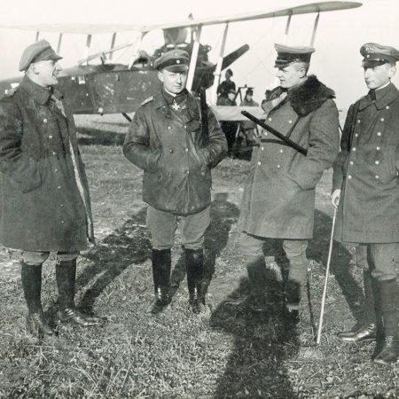 050 German Officers With Rumpler