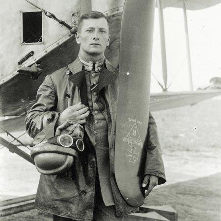 113 German Pilot In Front Of His Machine