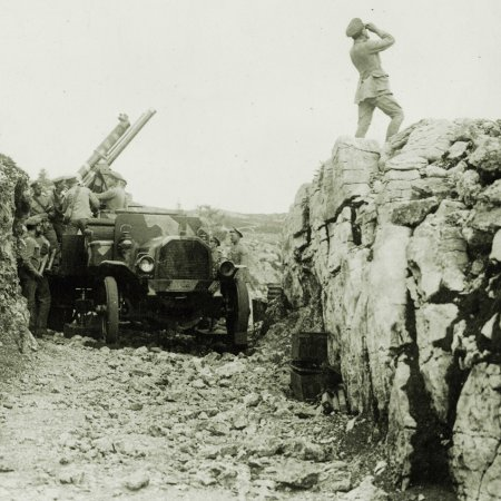 117 Anti Aircraft Gun In Trench