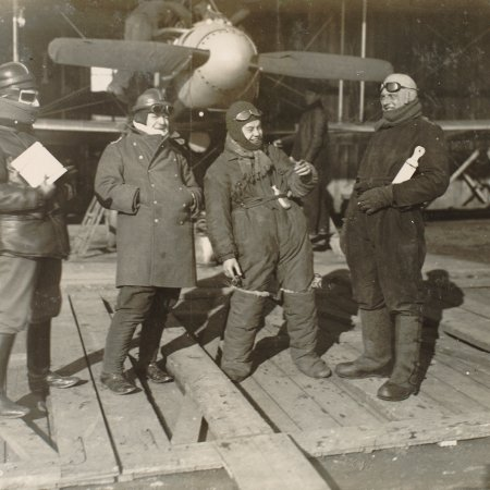 139 Pilots In Flight Gear With Albatros In Hangar