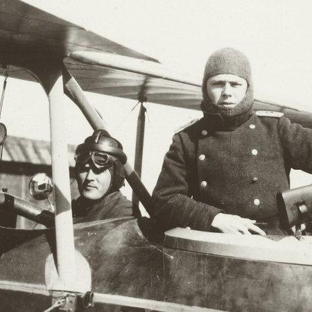 159 Closeup Of German Pilot And Gunner In Cockpit
